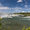 Looking back at the American Falls from Goat Island.