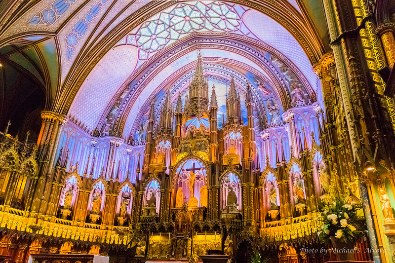We went into Notre-Dame Basilica which as you can see was beautiful.