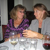 Marjo & Angie enjoying their wine.....