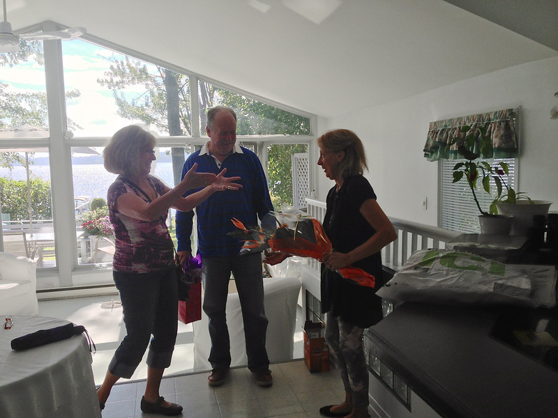 Marjo & Wayne surprising Angie after flying 3,700 kms from Vancouver !!