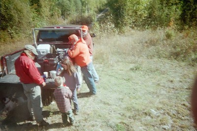 Moose hunt 02. Getting ready for snacks