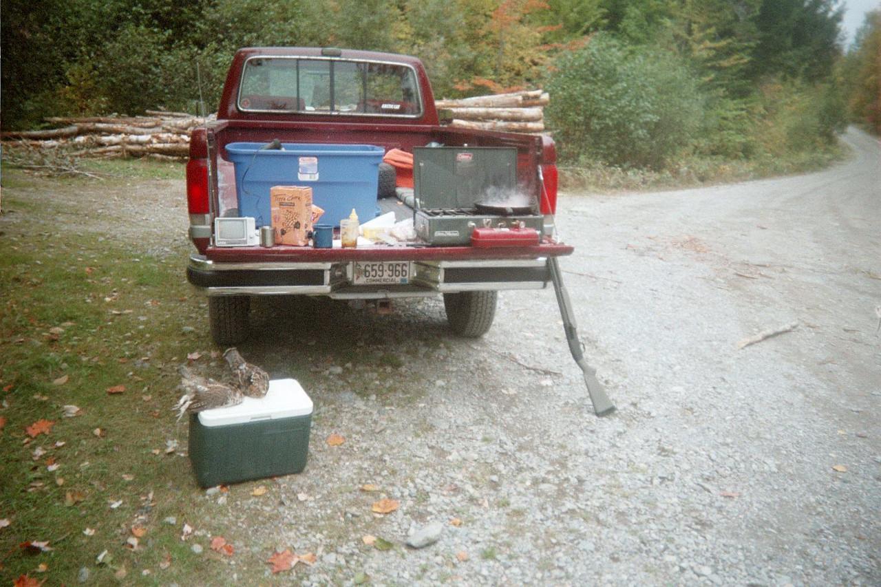 Lunch on Appalachian Trail.