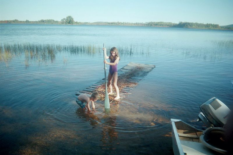 Paddling around Forth Machias Lake