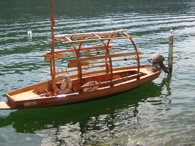 Traditional Swiss boat used for cozy boatrides across the lake
