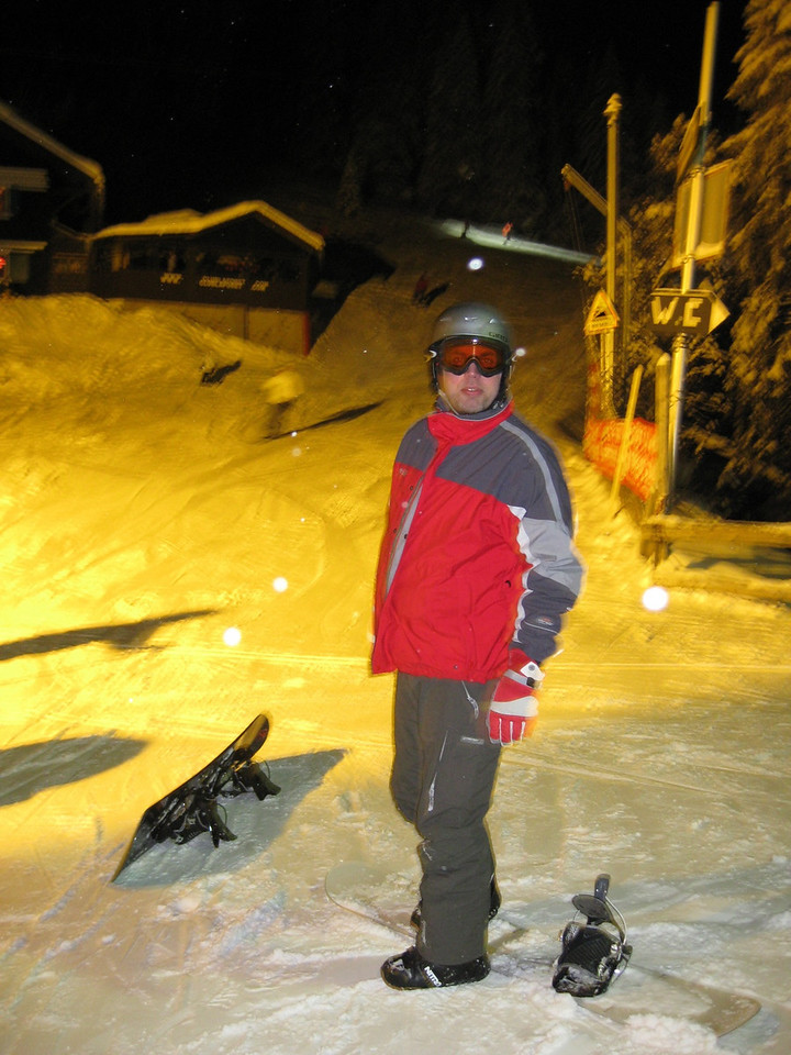 night skiing, with Robbert