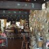 Grasshoper Inn bar and fireplace.