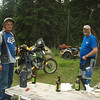 Al and Ron at really gorgeous campsite down about a mile from Lolo Trail . . . . . .   Cayuse Junction down to Cayuse Creek.