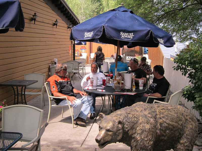 Refreshments in Aspen before heading up to Independence Pass.