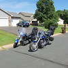 My bike and Bill's.  Getting ready to head out from Rogers.