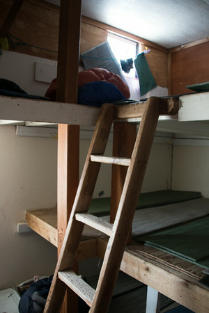 Inside of the sleeping quarters.