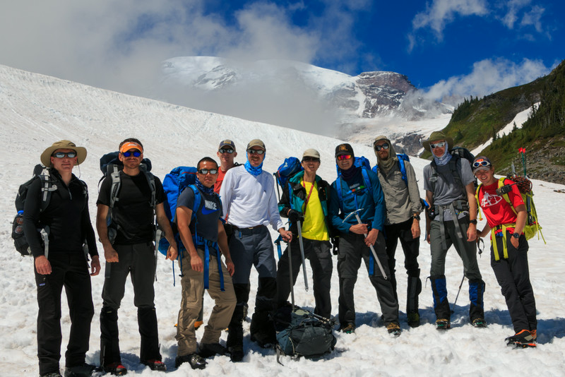 End of mountaineering school