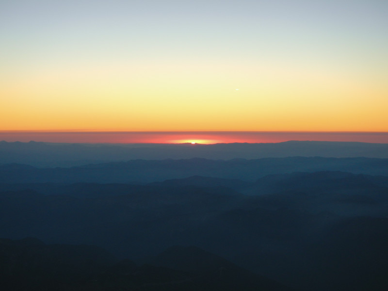 Clear skies for sunrise