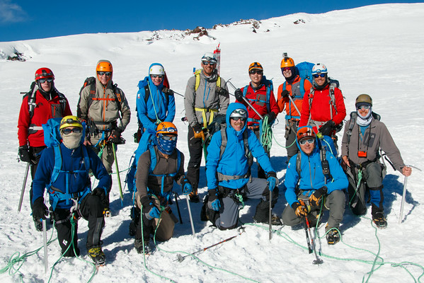 Entire Group at the Summit Crater