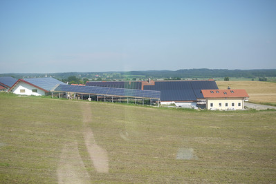 tons of solar panels in germany