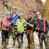 Canyon Crew after the canyon. Lee's friend had given her some fancy soap hoping for marketing photos... instead she got this. Oh well.