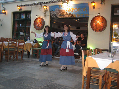 A week later, we returned to Athens and came for dinner at Taverna Akropol. The musicians remembered us and waved a greeting, and the dancers smiled.
