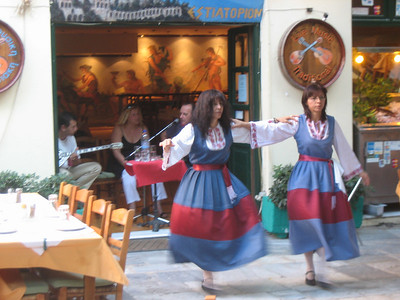 Musicians and dancers at Taverna Akropol  (starting 7:30pm every evening)