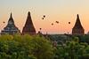 Sunrise balloons at Low Ka Oushang Pagoda