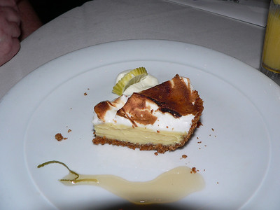 Key lime pie without much lime, but still tasty.