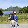 Michael and Kay in front of Jordan Pond.
