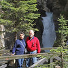 My sister and brother-in-law at waterfall near Banff