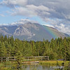 Rainbow and mountain scene- taken across from hotel in Canmore Canada
