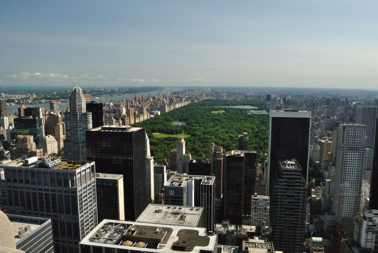 View of Central Park and Upper West Side from Top of the Rock.