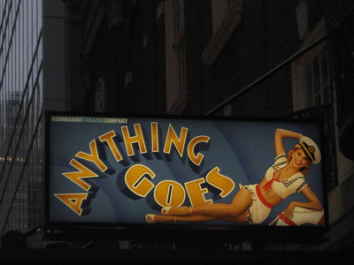 1st show - Anything Goes. FANTASTIC!