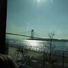 We took a bus tour of the race course route -- here we are approach the verrazano bridge on the staten island side where the race starts