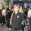Susan waiting in line to check in at the NYC Marathon Expo