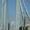 The verrazano bridge -- actually about 1.5 miles long -- UP & DOWN