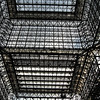 Looking straight up to the ceiling of the convention center