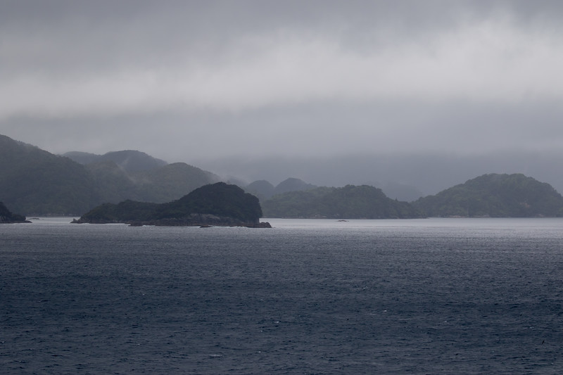 Entering Dusky Sound in Fjordlands National Park