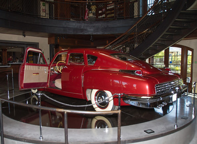 Both of the Francis Ford Coppola Winery locations have a Tucker car on display.