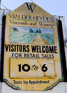 Van Der Heyden stays open later than most Napa wineries, and that had a lot to do with our first visit.