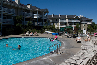 WorldMark Windsor, CA - the pool on a hot morning.