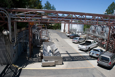 The truck dumping and crushing area at Sterling Vineyards.  The self-guided tour provides an exceptional overlook that would be amazing during the crush in the fall.