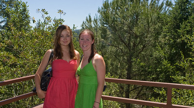 Two lovely Dartmouth College '09s enjoying a look at Sterling Vineyards.