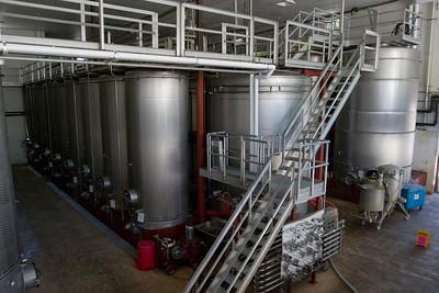 The fermentation room at Sterling Vineyards.