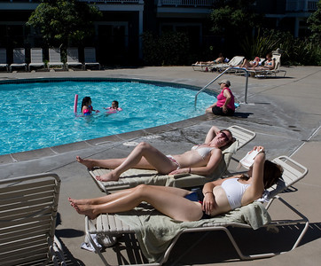 WorldMark Windsor, CA - enjoying the pool, getting warmed up for a day in the nearby Napa Valley.