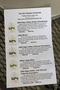 It was late in the day, so we headed to Van Der Heyden Vineyards to explore their unique late harvest Cabernet Sauvignon.