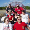 Group on airboat ride