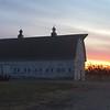 March 23, 2015 - (Taylor Ranch [near Hwy 2] / Grand Island, Hall County; Nebraska) -- Barn at Sunrise