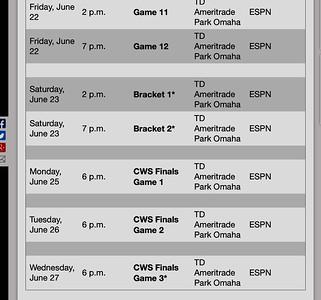 https://www.ncaa.com/news/baseball/article/college-world-series-schedule