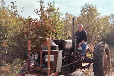Joe on the tractor