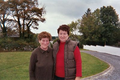 Nellie and her neighbor Margaret