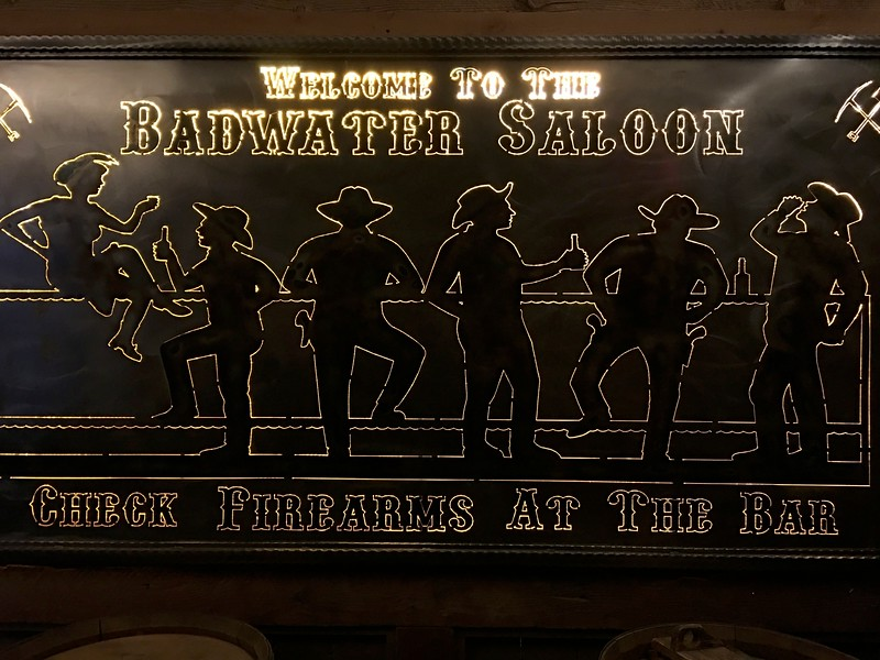 Badwater Saloon @ Stovepipe Wells in Death Valley NP