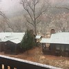 Snowing on Zion Lodge and Cabins @ Zion NP