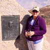 MaryAnne @ Father Crowley Marker in Death Valley NP