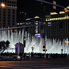 Picture of the Fountains of Bellagio taken during taxi ride.